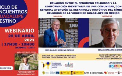 LA FUNDACIÓN YUSTE ORGANIZA UN SEMINARIO WEB SOBRE LA RELACIÓN ENTRE EL FENÓMENO RELIGIOSO Y LA CONFORMACIÓN IDENTITARIA DE UNA COMUNIDAD, CON ESPECIAL ATENCIÓN AL DESARROLLO HISTÓRICO DEL SÍMBOLO RELIGIOSO DE LA VIRGEN DE GUADALUPE EN MÉXICO